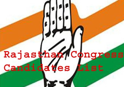 Congress released first list of candidates for Rajasthan Election