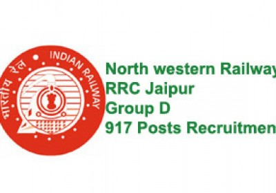 NWR RRC Jaipur Group D Recruitment for 917 posts
