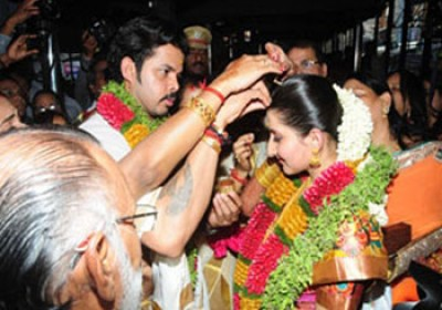 Sreesanth tied knot with Bhuvanesh Kumari of Jaipur royal family