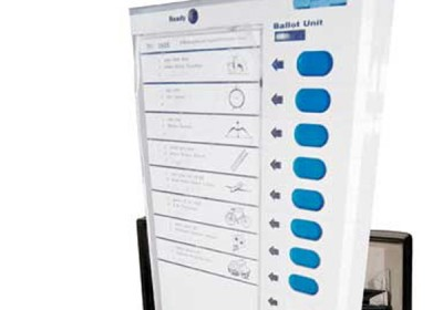 Visually impaired voters used Brail EVMs to cast vote in Rajasthan