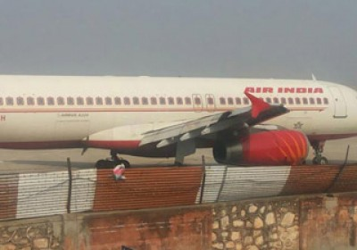 Air India flight safe from major accident at Jaipur Airport