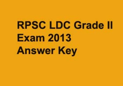 RPSC releases LDC Grade II Exam 2013 answer keys