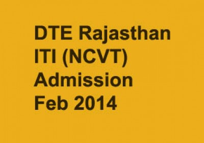 Rajasthan ITI (NCVT) Admission Feb 2014 notification released
