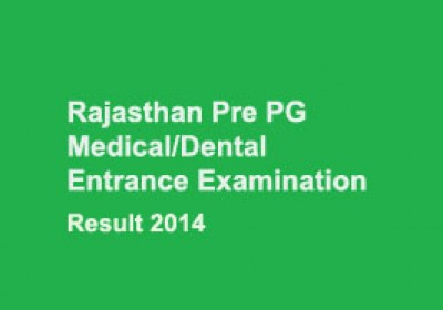 RUHS Pre PG Medical/Dental Entrance Exam 2014 Result announce