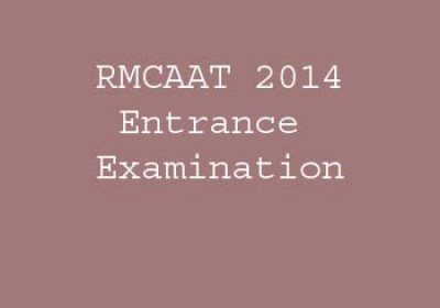 RMCAAT 2014 Entrance Examination