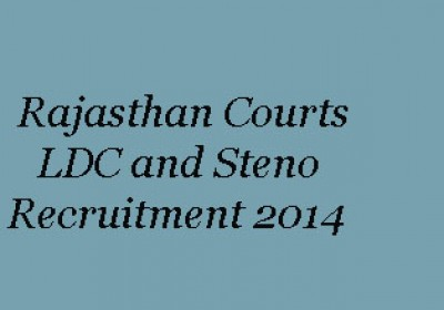 Rajasthan District Courts LDC and Steno Recruitment 2014