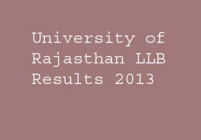 University of Rajasthan LLB Results 2013