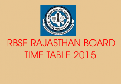 RBSE Board 2015 Exam Time Table