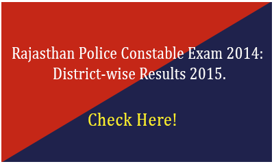 Rajasthan Police Constable Exam Results 2015